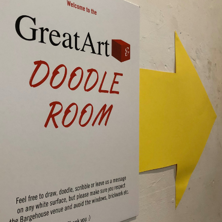 GreatArt Doodle Room at Roy's People Art Fair London October 2019